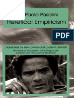 Pasolini Heretical Empiricism