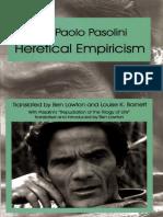 Pasolini Heretical Empiricism