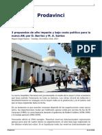3 Propuestas de Alto Impacto y Bajo Costo Politico Para La Nueva an Por d Barrios y m a Santos