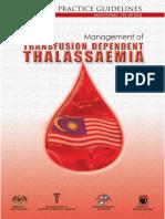 CPG Management of Thalassaemia
