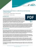 Mass Reform 2008 Uninsured Brief