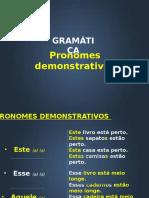 Pronomes Demonstrativos em Português para professores