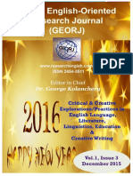 Global English-Oriented Research Journal (GEORJ)/Dec. 2015