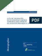 Guía de valoración de incapacidad laboral temporal para médicos de atención primaria (2.ª edición)