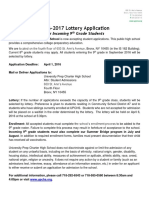 UPCHS 2016 Lottery Application