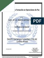 Derecho Internacional Humanitario Certificate