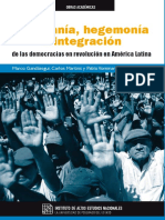 Soberanía, hegemonía e integración