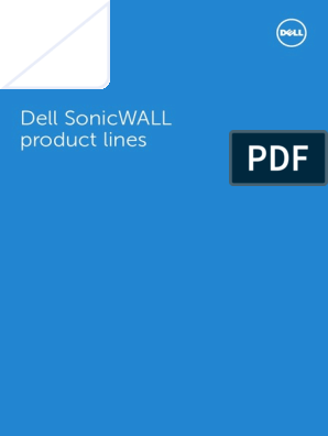Brochure-SonicWALL-ProductLines-A4-GM-26529 pdf | Virtual