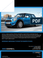 Mini Cooper S 2007 Pamphlet