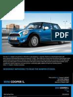 Mini Cooper S 2007 Pamphlet