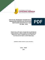 Tesis Efecto del programa Thaqhiri en el proceso de indagación científica de los estudiantes de la Institución Educativa Fe y Alegría 34 de Lima - 2015