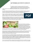 Conseils de jardinage biologique pour toutes les saisons de l'année