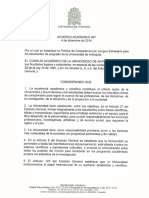 Udea acuerdo 447 competencia en lengua extranjera