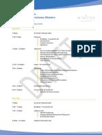 Dr. Lim's TR500 GYO Course Agenda