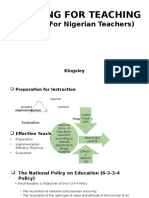 planning for teaching resentation