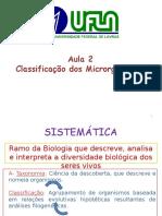 Aula 2 - Classificação Dos Microrganismos 20151