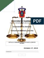 Comunicación Oral y Escrita Octubre 17, 2014