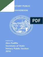 California Notary Handbook 2016