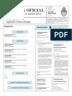 Boletín Oficial de la República Argentina, Número 33.303. 25 de enero de 2016