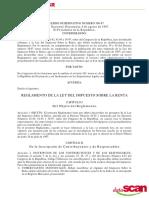 Reglamento Del ISR