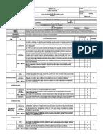 Lista de Verificación de Orden y Aseo