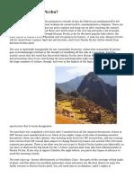 Climbing Huayna Picchu?