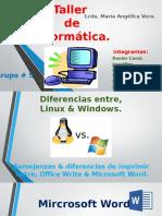 22) Diferencias Entre Linux (Write) & Windows (Word)