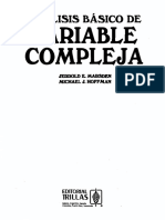 Analisis Basico de Variable Compleja