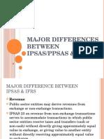Major Differences Between Ipsas & Ifrs