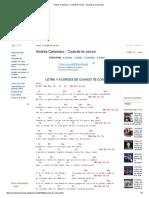 Andrés Calamaro - Cuando Te Conocí - Acordes D Canciones