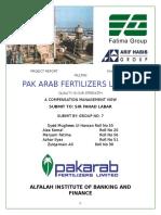 Pak Arab Fartilizers Report