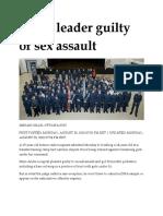 30 Aug 2010 - Cadet Leader Guilty of Sex Assault