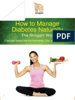 How To Manage Diabetes Naturally - The Nirogam Way
