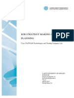 Project Report on B2B Strategy Making and Planning