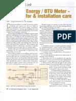 BTU meter Installation Guide