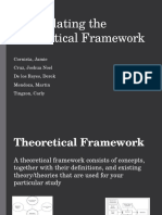 Formulating the Theoretical Framework Reporting
