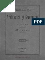 1893 - Nicolescu, Th. - Probleme de aritmetica si geometrie.pdf