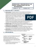 Tema 12. Epidemilogía y Prevención de Las Enfermedades Transmitidas Por via Respiratoria