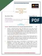 CBSE CBSE Class 12th English (Core) Solved Practice Paper Set II