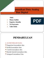 Sistem Komunikasi Data Analog Dan Digital POWER POINT