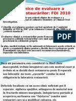 Criterii de Evaluare a Calităţii Restaurărilor(Fdi 2010)