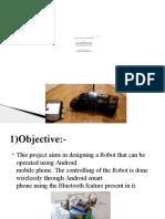 Robot by Bluetooth Communication