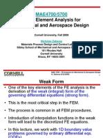 FEM Zabaras Cornell University StrongAndWeakProblems1D