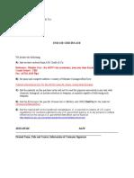 End Use Certificate - Blanket Cert