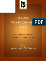 We Are Consciousness Itself by Adi Da Samraj PDF iPad
