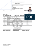 Student Registration Card Rahul