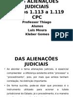 ALIENAÇÕES JUDICIAIS