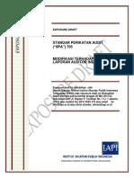 ED SPA 705 - Modifikasi Terhadap Opini Dalam Laporan Auditor Independen