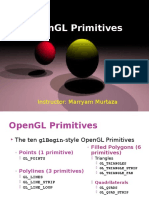 Lec 12 OpenGL Primitives