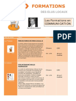 Formations 1er Semestre 2016 Communications